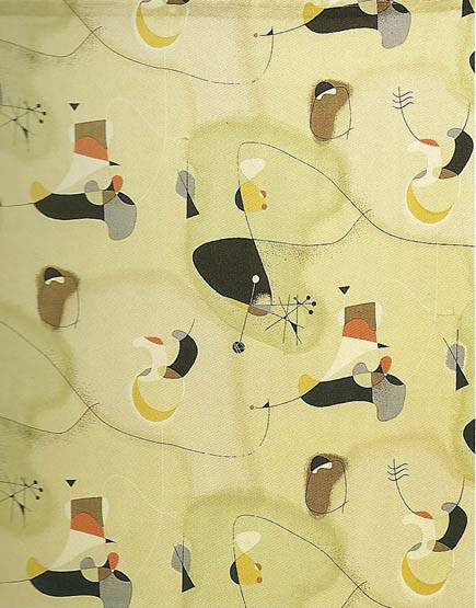 Joan Miró Inspired Fabric 2