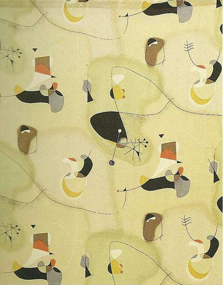 Joan Miró Inspired Fabric2