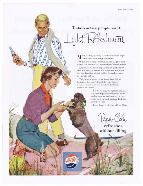 Poodle Time!-Poodles and Cola Ads