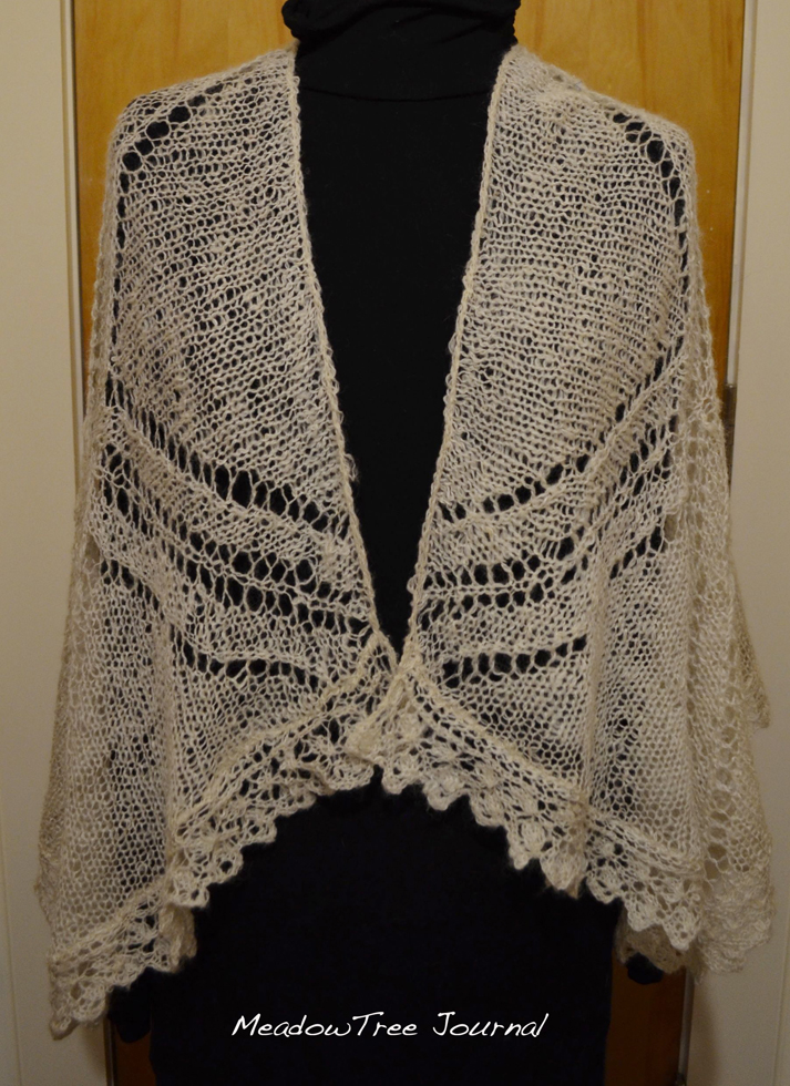"""Take The Pain Out Of Counterpane"" Shawl"