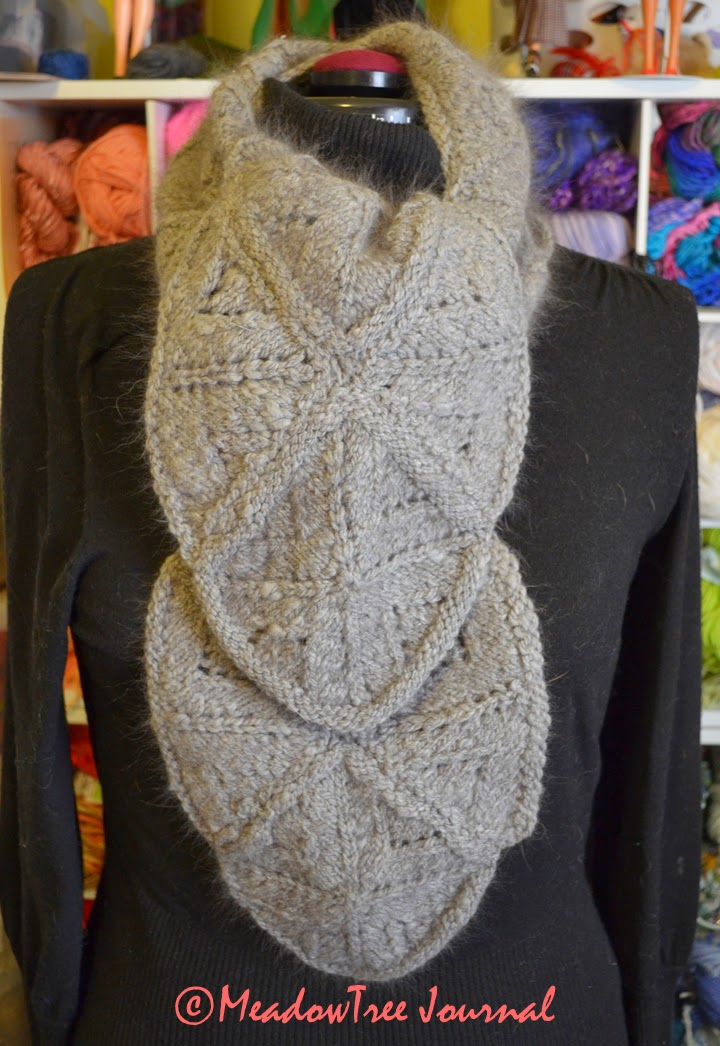 Gray Counterpane Scarf
