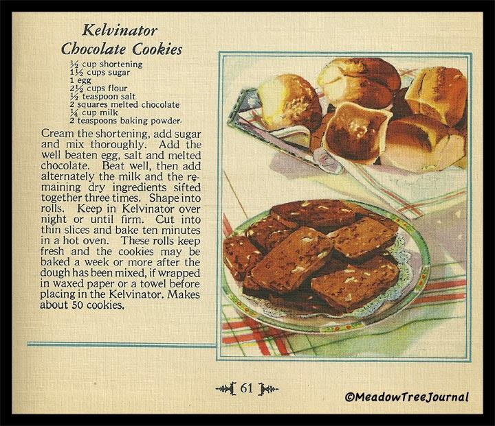 Of Kelvinators and ChocolateCookies