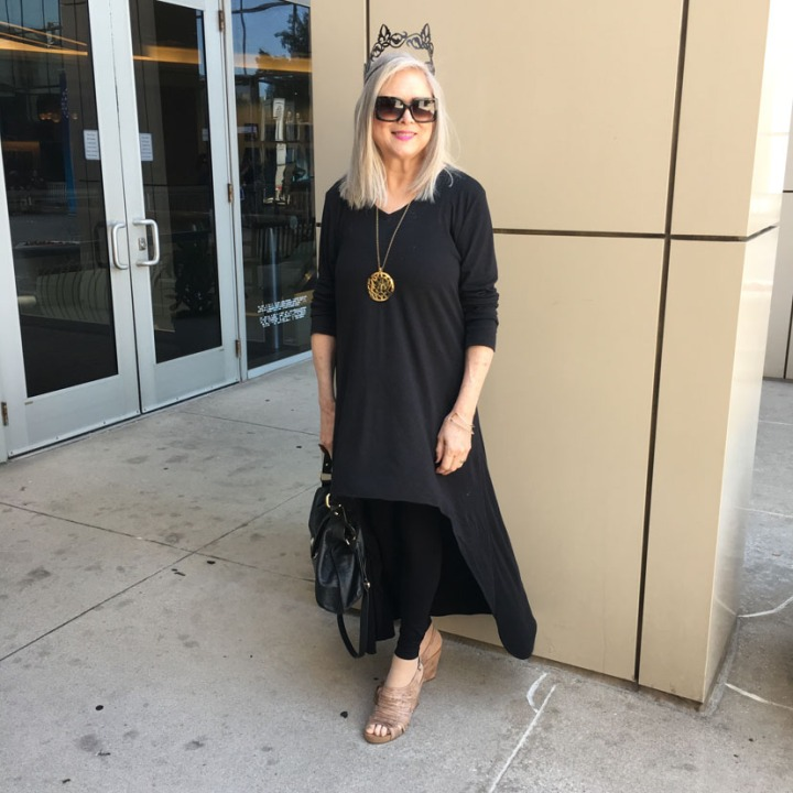 My Sew Sew Life-Dramatic Black Tunic for Style Imitating Art