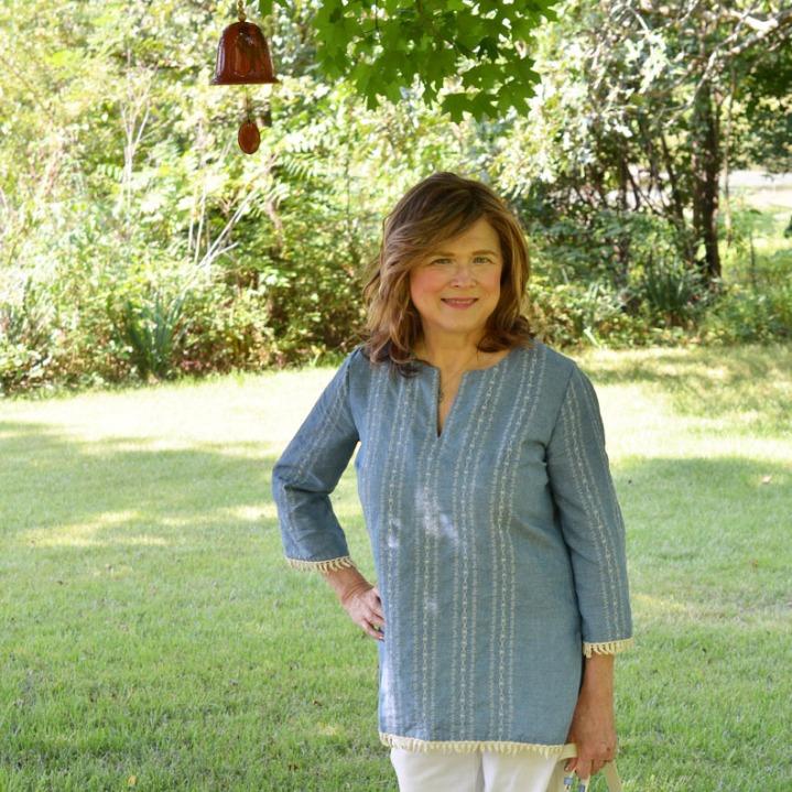My Sew-Sew Life-Linen ChambrayTunic