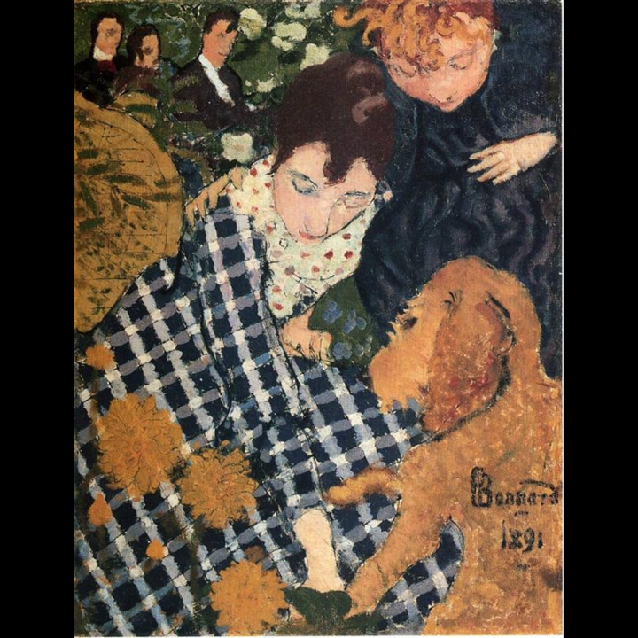 Style Imitating Art-Woman with a Dog by Pierre Bonnard
