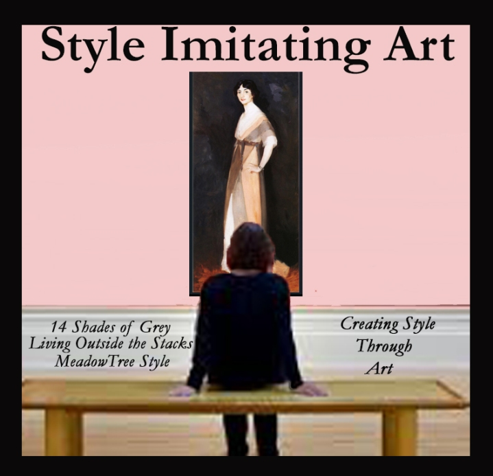 Style Imitating Art-Girl in Rose and Grey, Miss Carmel White by RobertHenri