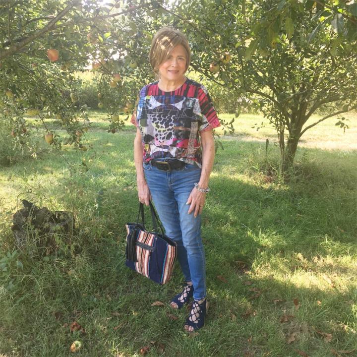 "Multi Colored Shirt for Gunta Stöltz's ""Cows in Landscape"""